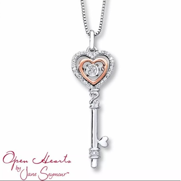 beb6017a4 Kay Jewelers Jewelry | Open Hearts Key Necklace | Poshmark